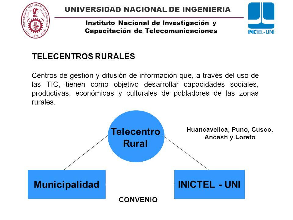 Huancavelica, Puno, Cusco, Ancash y Loreto