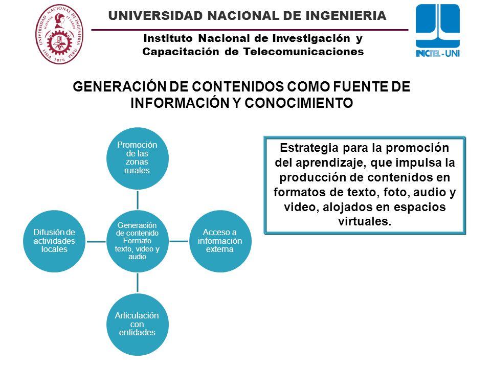 GENERACIÓN DE CONTENIDOS COMO FUENTE DE INFORMACIÓN Y CONOCIMIENTO