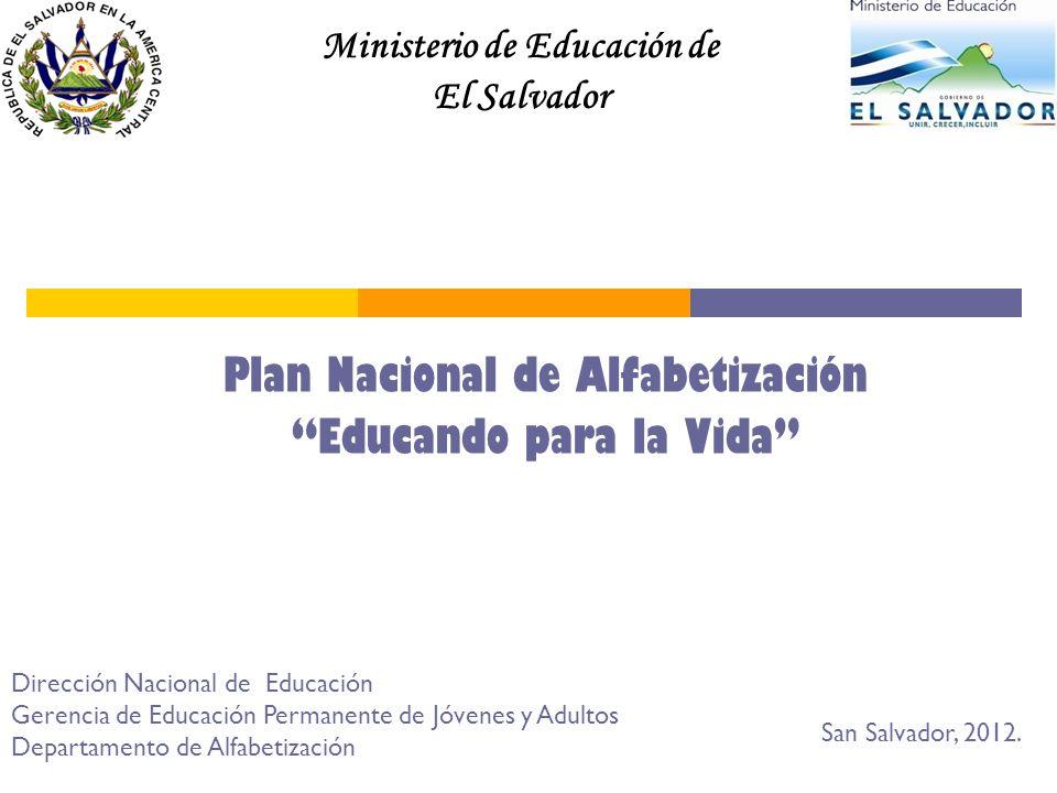 Plan Nacional de Alfabetización Educando para la Vida