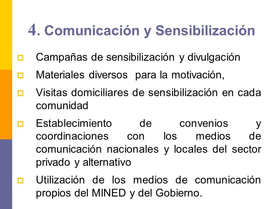 4. Comunicación y Sensibilización