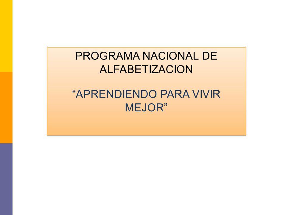 PROGRAMA NACIONAL DE ALFABETIZACION