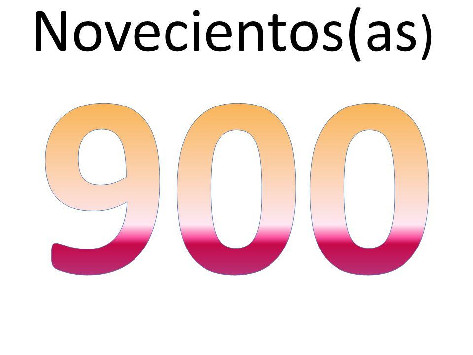 Novecientos(as) 900