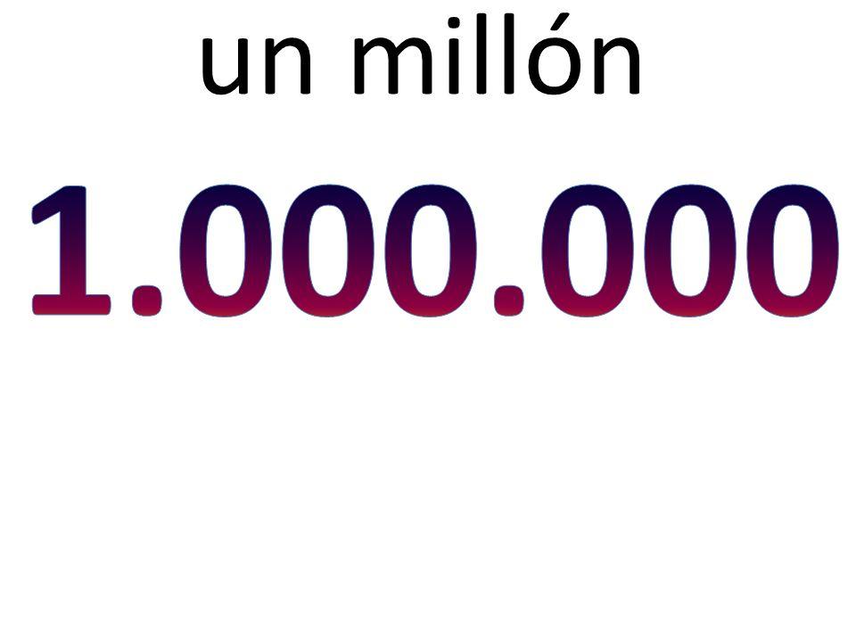 un millón 1.000.000