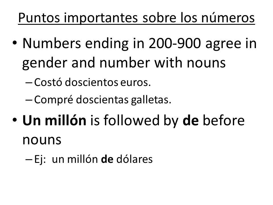 Puntos importantes sobre los números
