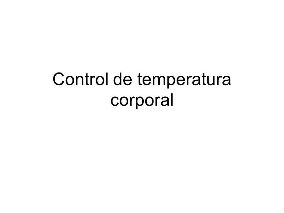 Control de temperatura corporal