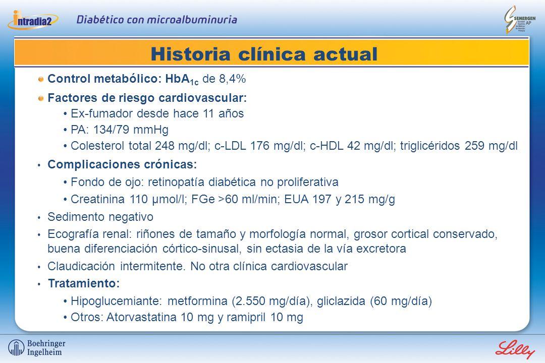 Historia clínica Varón de 64 años con diabetes mellitus
