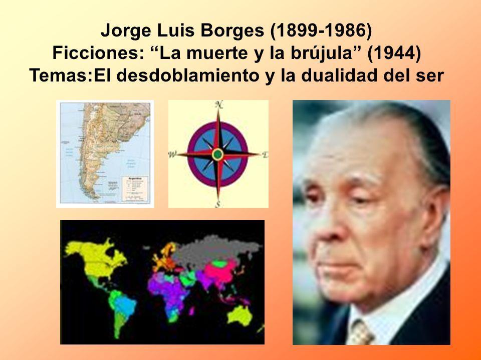 Jorge Luis Borges (1899-1986) Ficciones: La muerte y la brújula (1944) Temas:El desdoblamiento y la dualidad del ser