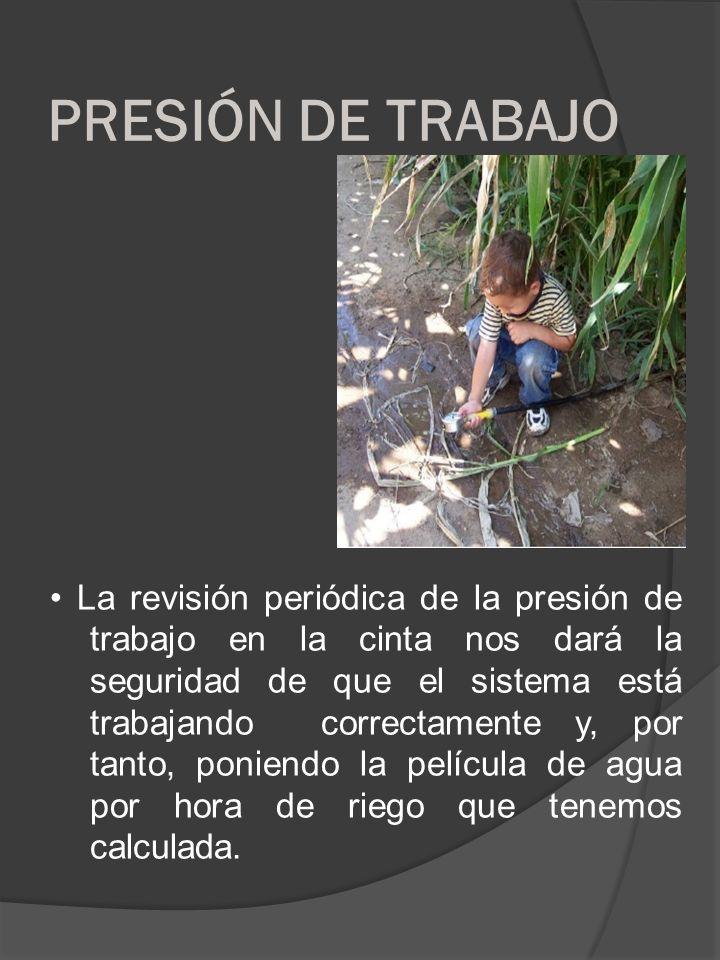 PRESIÓN DE TRABAJO
