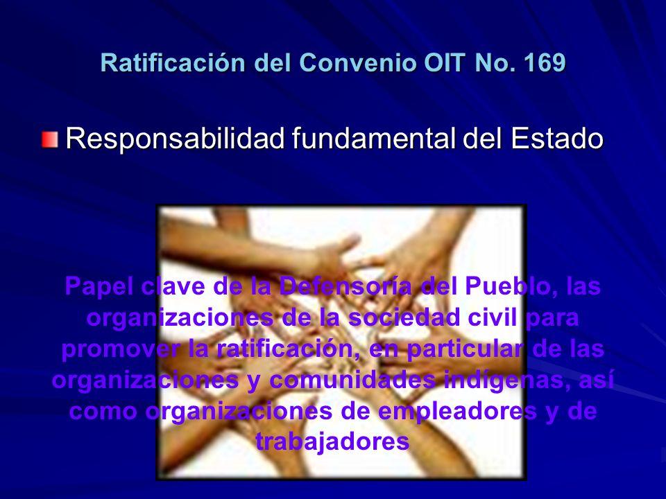 Ratificación del Convenio OIT No. 169