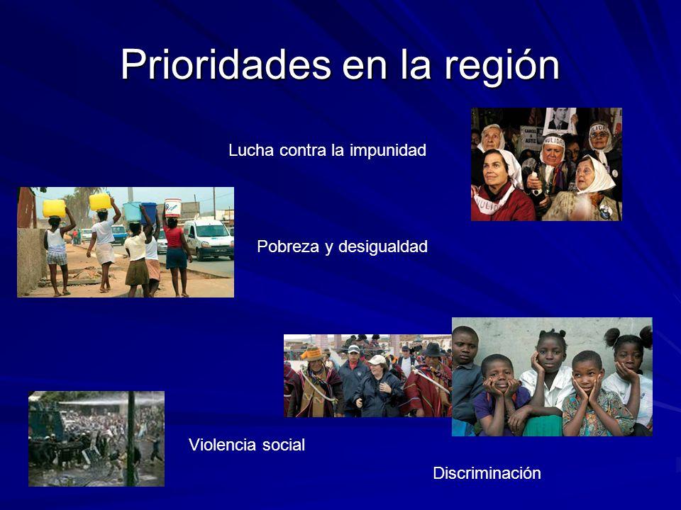 Prioridades en la región