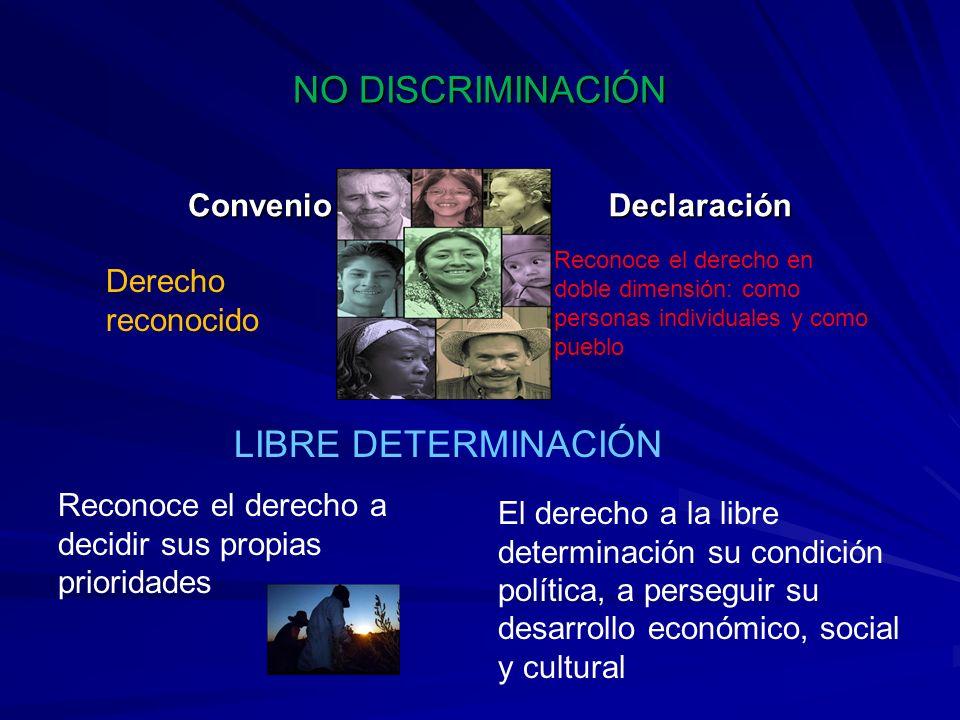 NO DISCRIMINACIÓN LIBRE DETERMINACIÓN Convenio Declaración Derecho