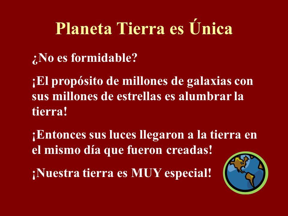 Planeta Tierra es Única