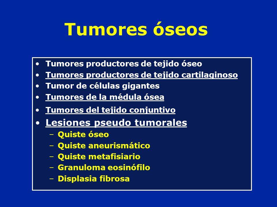 Tumores óseos Lesiones pseudo tumorales
