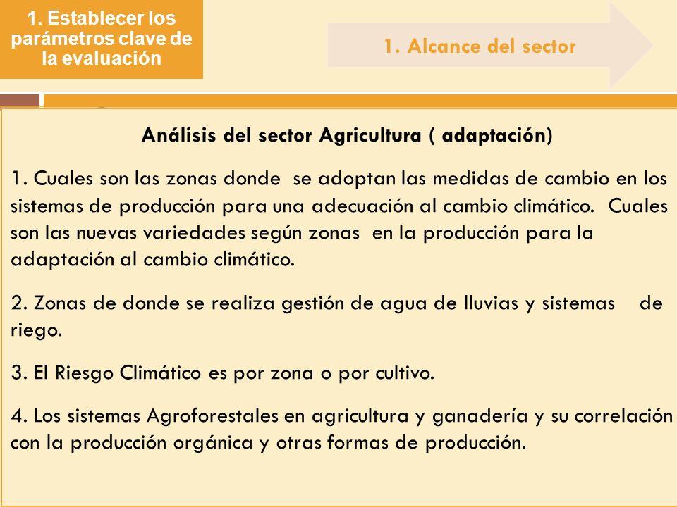 . 1. Alcance del sector Análisis del sector Agricultura ( adaptación)