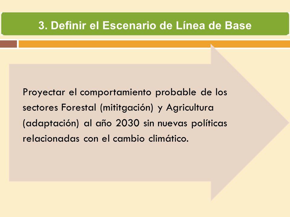 3. Definir el Escenario de Línea de Base