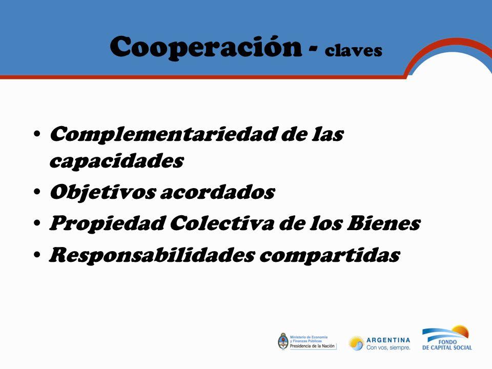Cooperación - claves Complementariedad de las capacidades