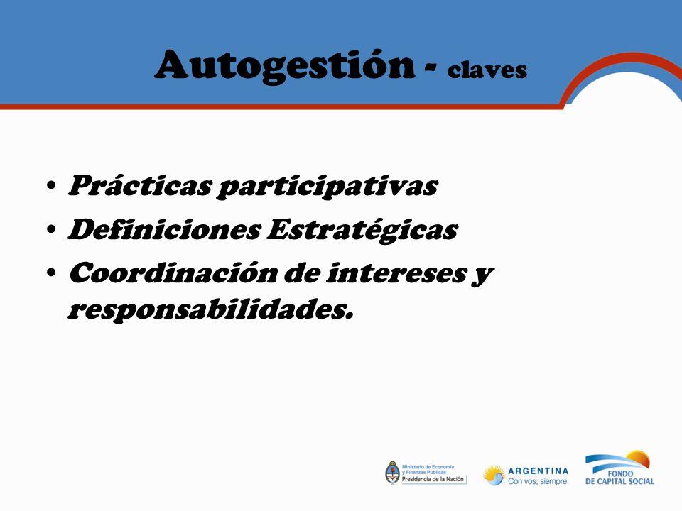 Autogestión - claves Prácticas participativas
