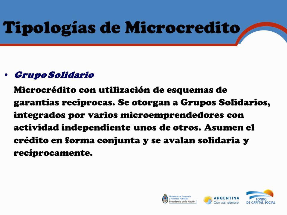 Tipologías de Microcredito