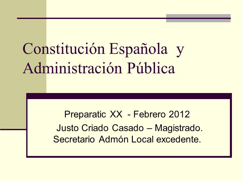 Constitución Española y Administración Pública