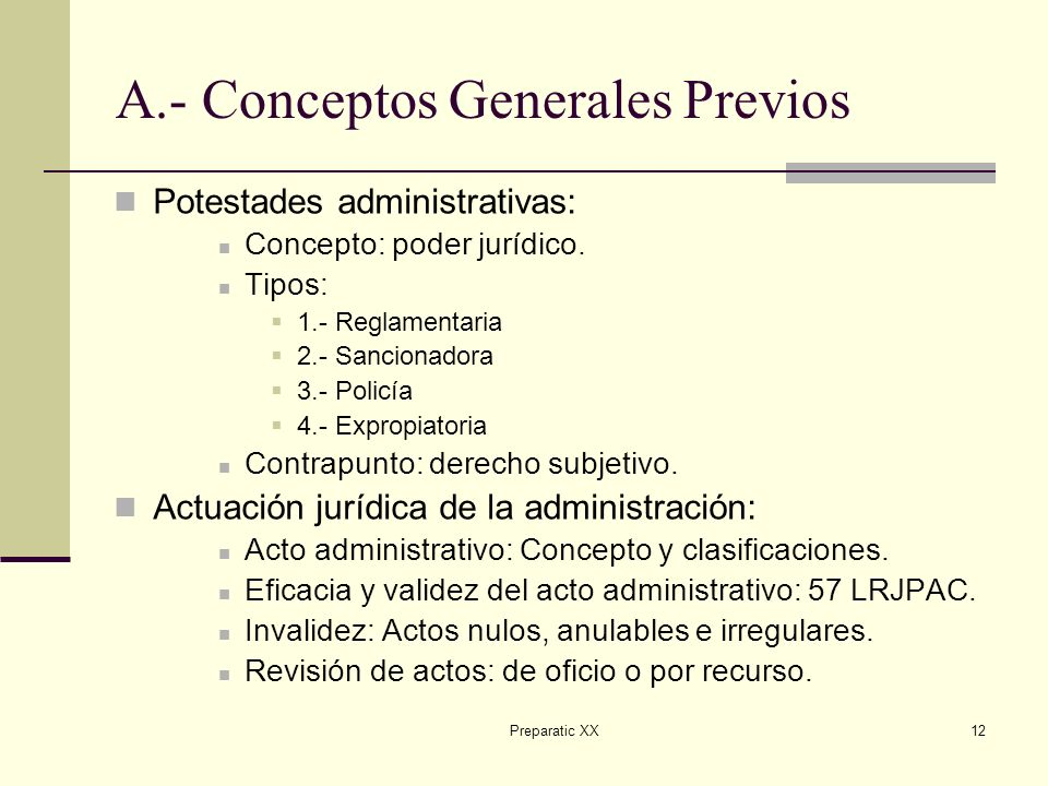 A.- Conceptos Generales Previos