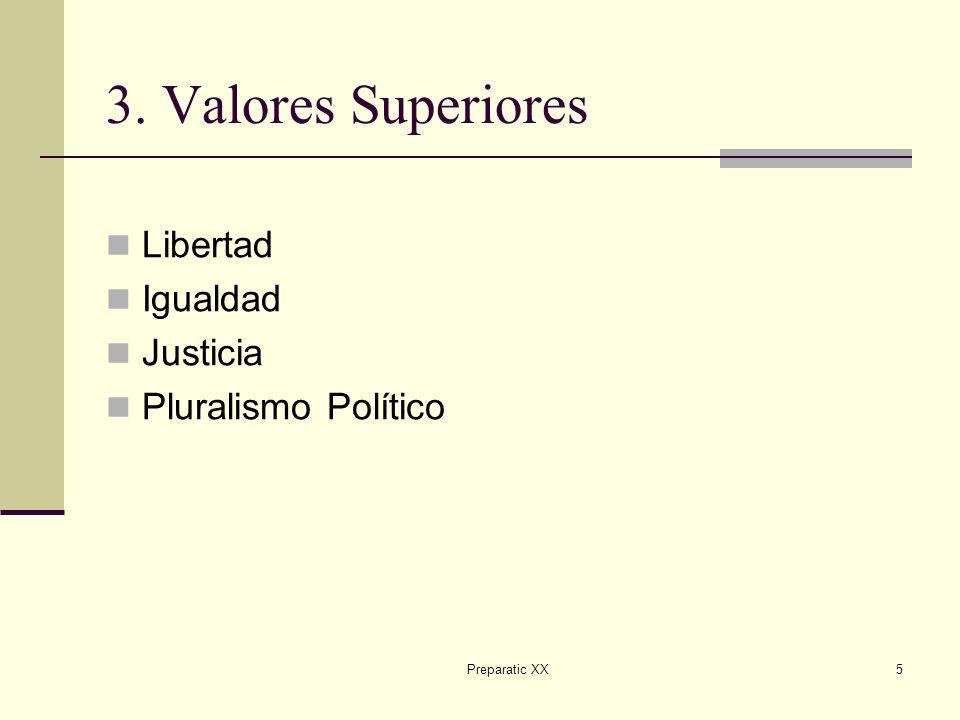 3. Valores Superiores Libertad Igualdad Justicia Pluralismo Político