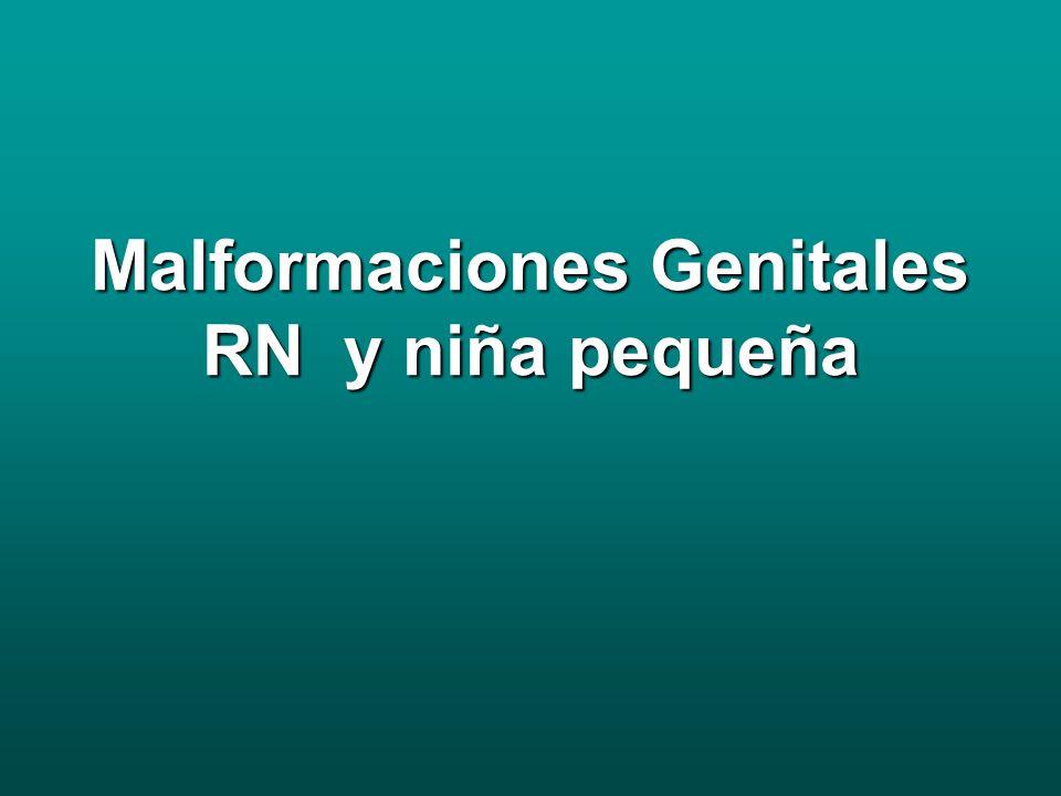 Malformaciones Genitales RN y niña pequeña