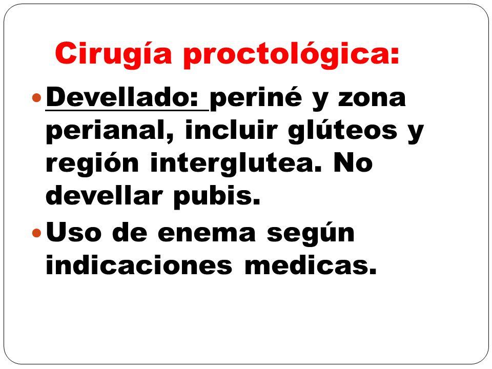 Cirugía proctológica:
