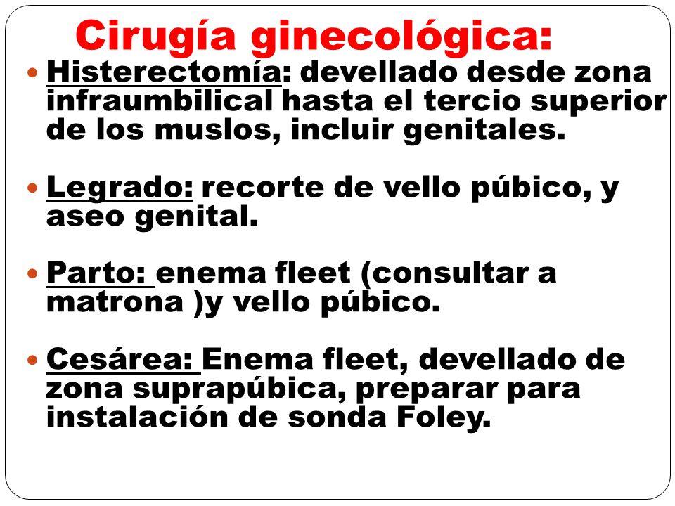 Cirugía ginecológica: