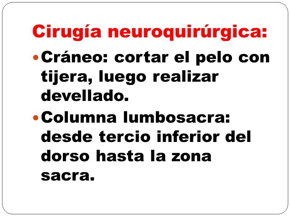 Cirugía neuroquirúrgica: