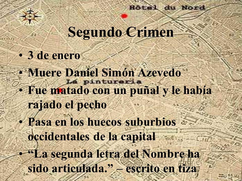 Segundo Crimen 3 de enero Muere Daniel Simón Azevedo