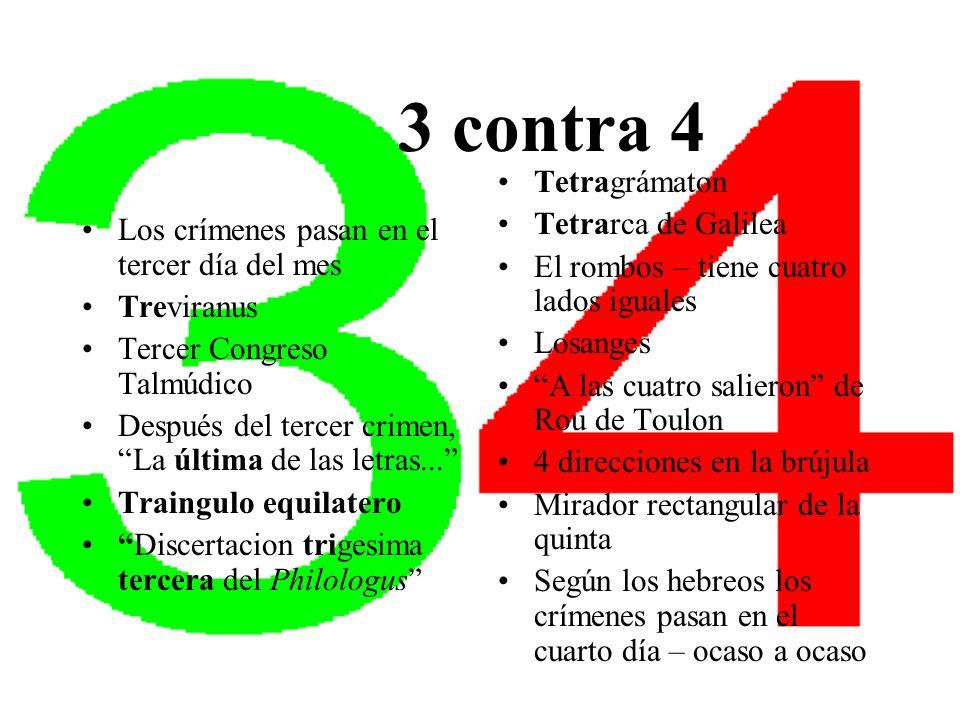 3 contra 4 Tetragrámaton Tetrarca de Galilea