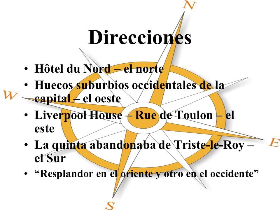 Direcciones Hôtel du Nord – el norte