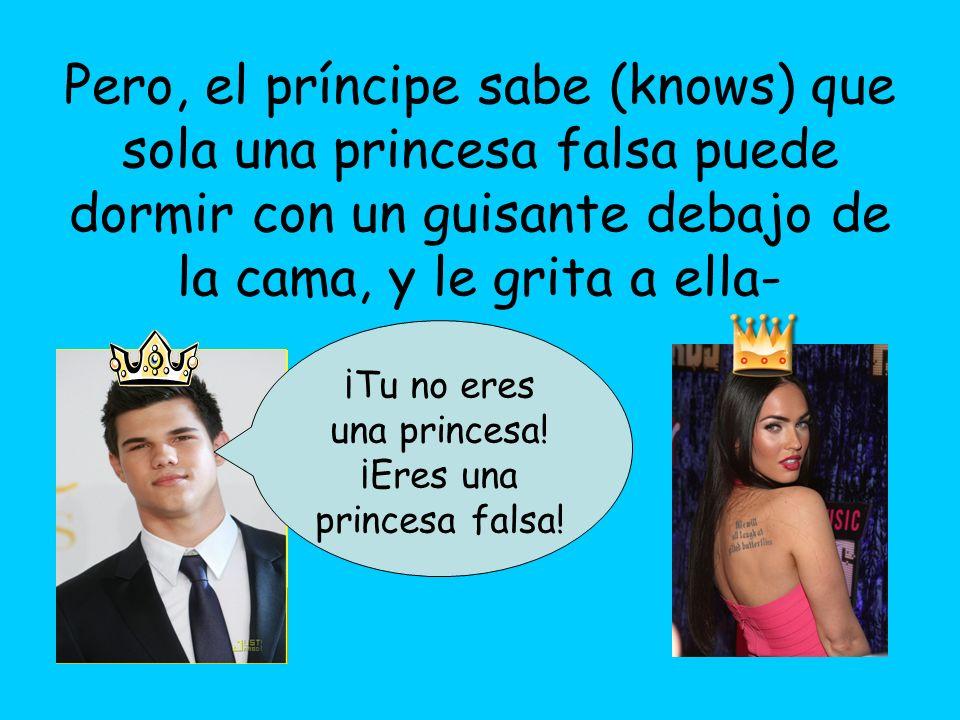¡Tu no eres una princesa! ¡Eres una princesa falsa!