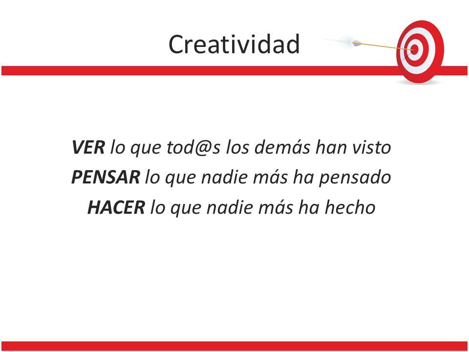Creatividad VER lo que tod@s los demás han visto