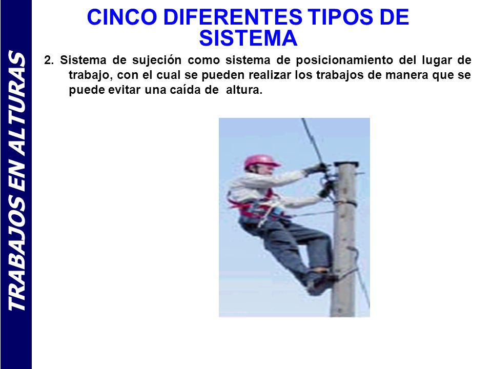 Trabajo en alturas ppt video online descargar for Diferentes tipos de ganchos para cortinas