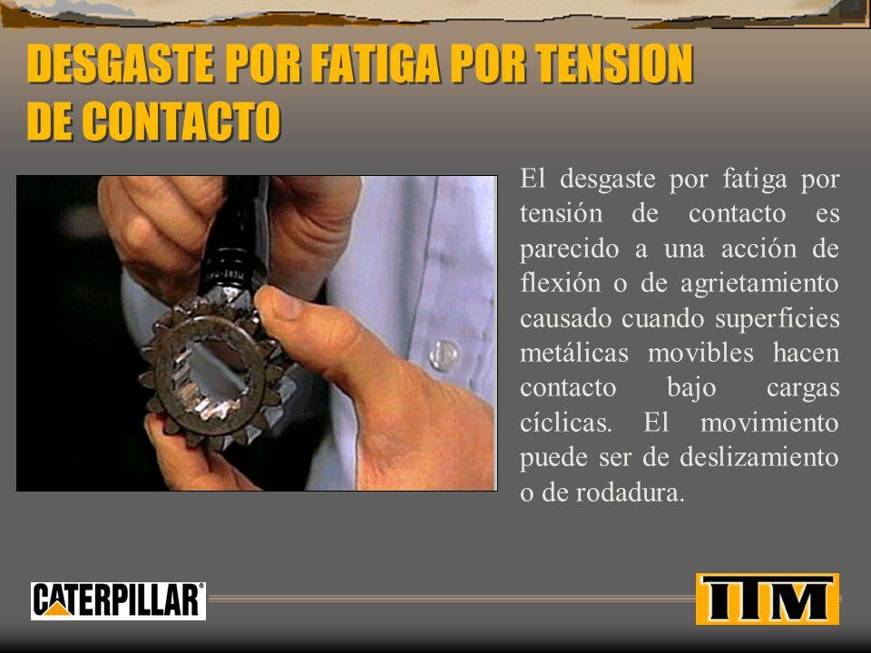 DESGASTE POR FATIGA POR TENSION DE CONTACTO