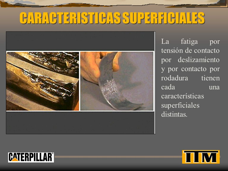 CARACTERISTICAS SUPERFICIALES
