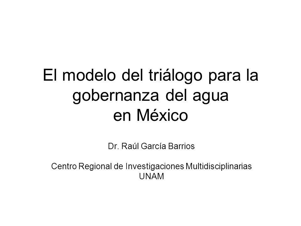 El modelo del triálogo para la gobernanza del agua en México