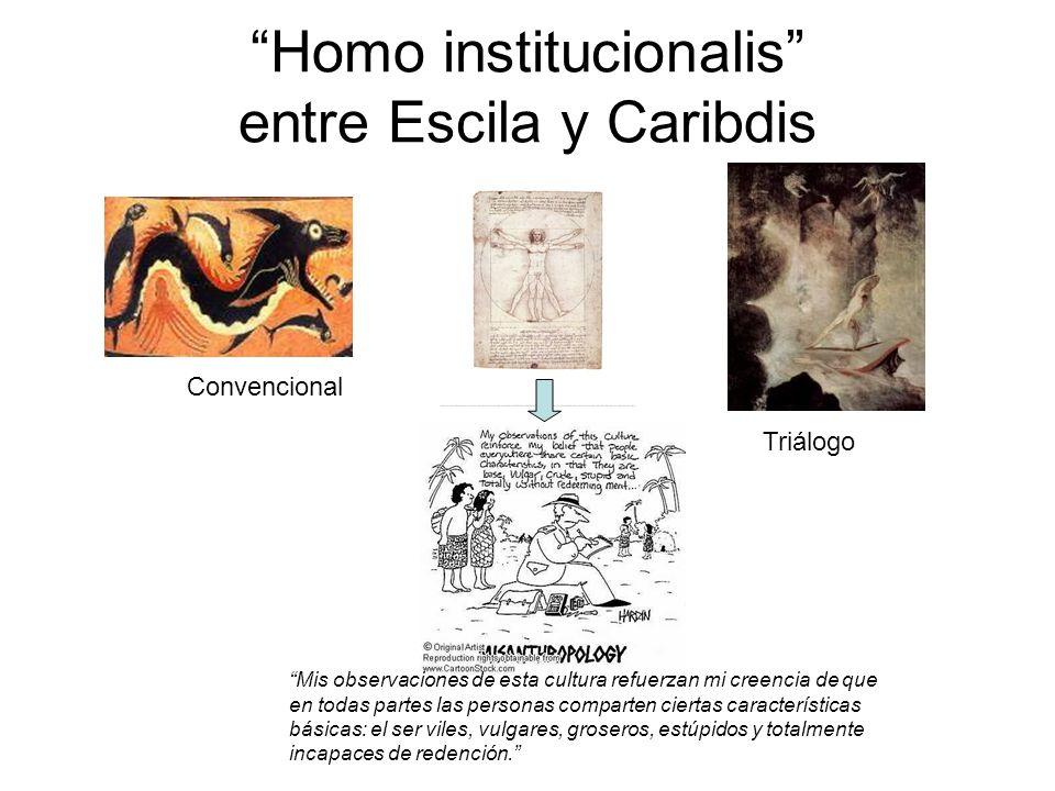 Homo institucionalis entre Escila y Caribdis