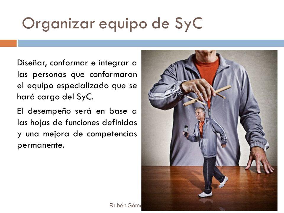 Organizar equipo de SyC