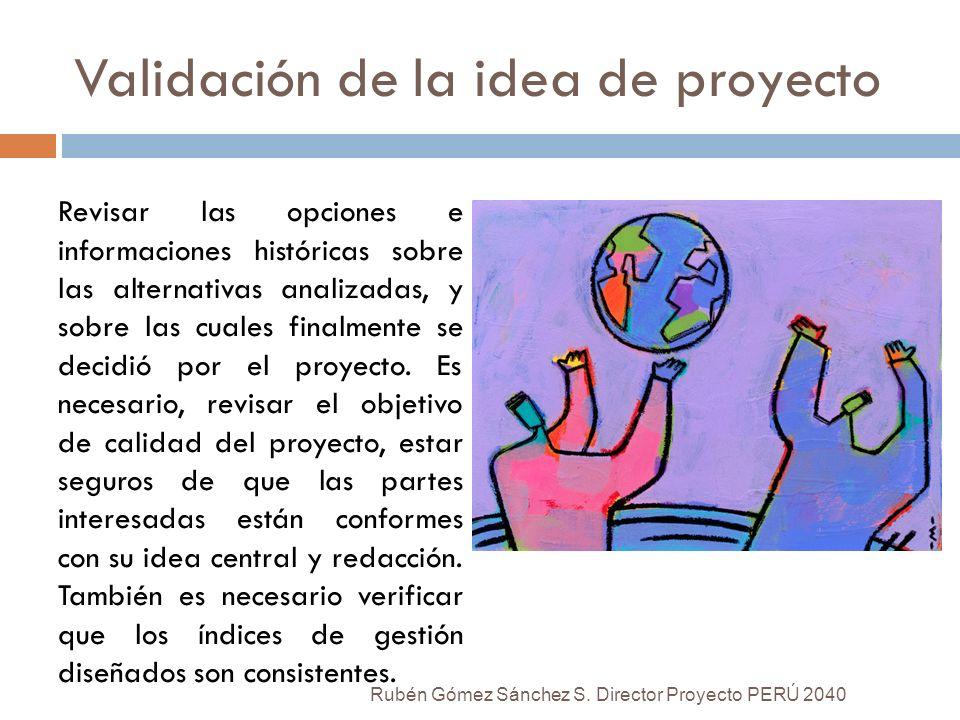 Validación de la idea de proyecto