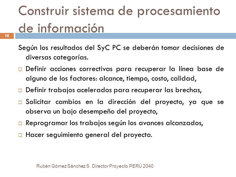 Construir sistema de procesamiento de información