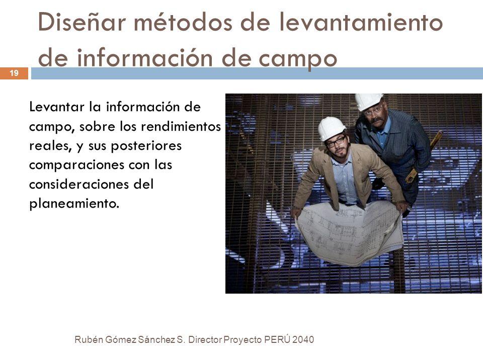 Diseñar métodos de levantamiento de información de campo