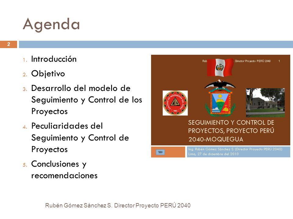 Agenda Introducción Objetivo