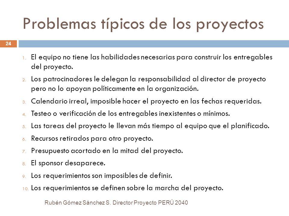 Problemas típicos de los proyectos