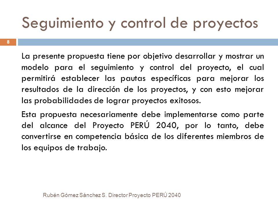 Seguimiento y control de proyectos