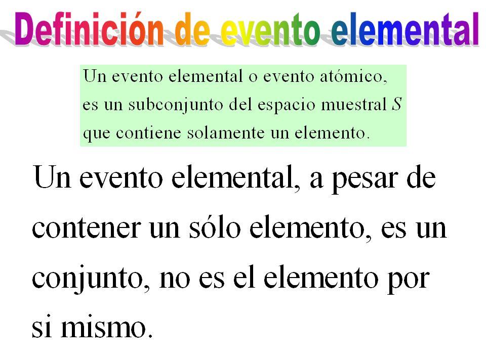Definición de evento elemental