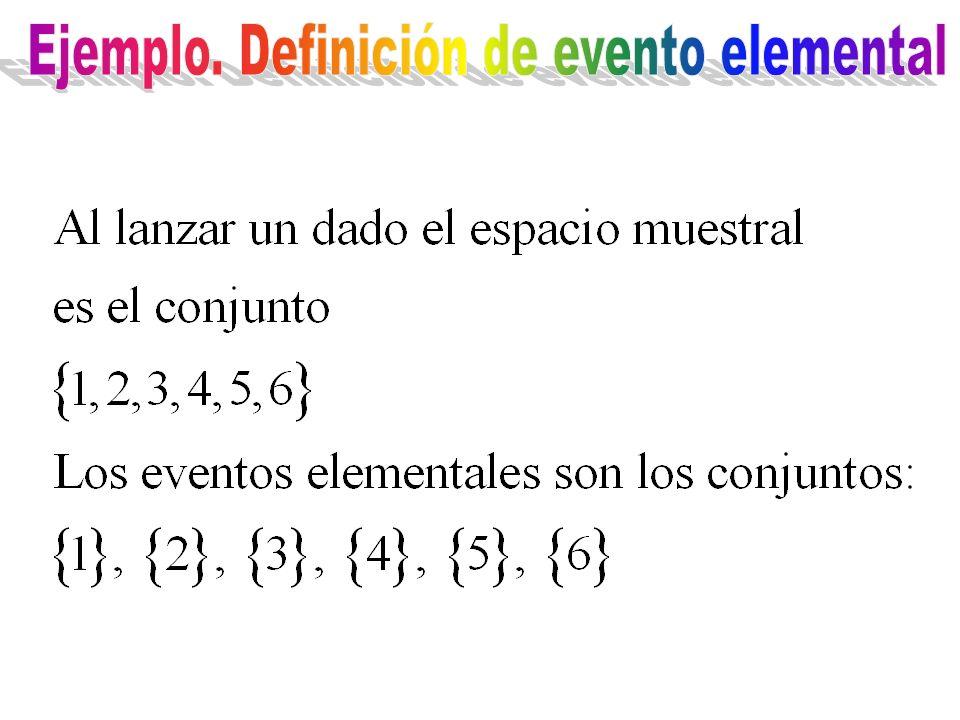 Ejemplo. Definición de evento elemental