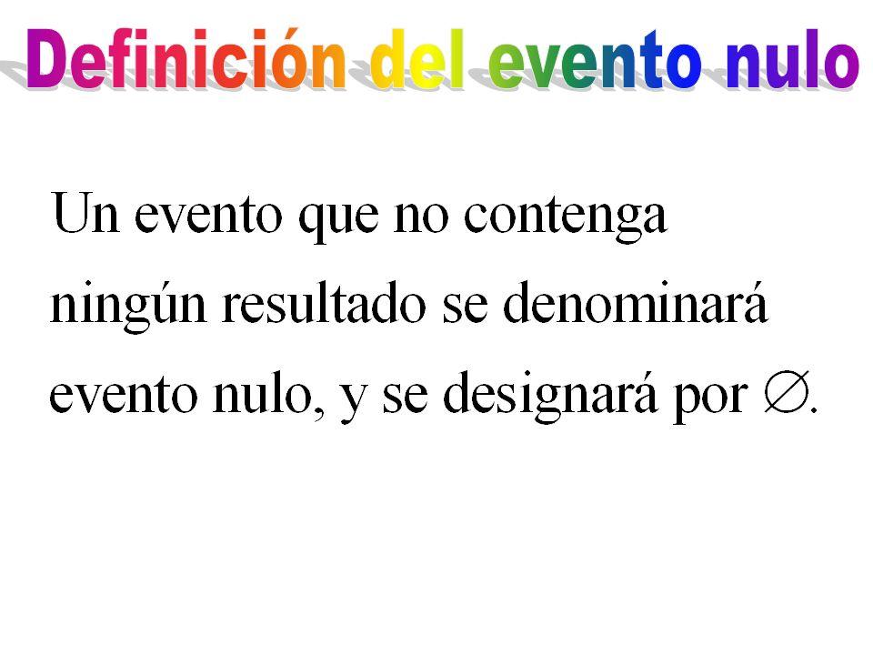 Definición del evento nulo