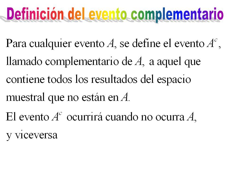 Definición del evento complementario